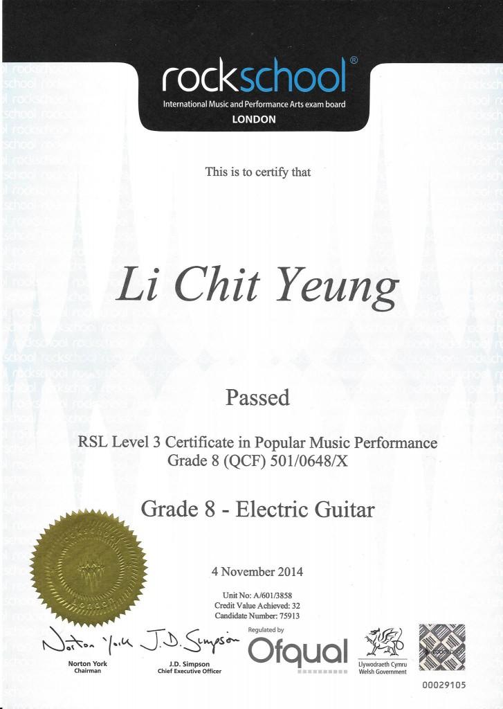 2014 Rockschool Grade 8 - Yeung