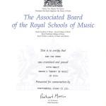 皇家音樂學院 - 5級樂理証書